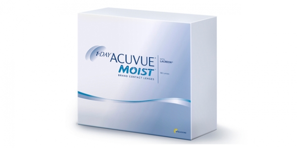 JOHNSON & JOHNSON 1 DAY ACUVUE MOIST 180
