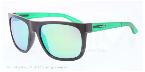 ARNETTE AN4143 FIRE DRILL BLACK light green mirror green