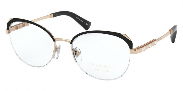 BVLGARI BV2221KB BLACK/PINK GOLD PLATED
