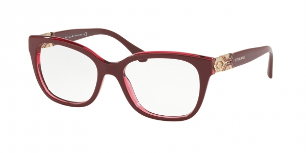 BVLGARI BV4172B BORDEAUX ON TRANSPARENT RED
