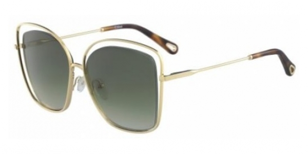 CHLOE CE133S GOLD/GREEN