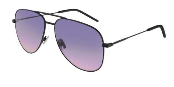 SAINT LAURENT CLASSIC 11 BLACK-BLACK-VIOLET