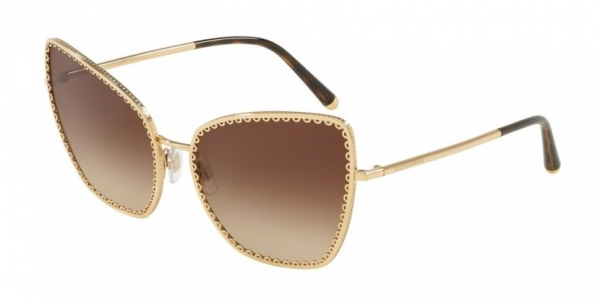 DOLCE & GABBANA DG2212 GOLD / BROWN GRADIENT