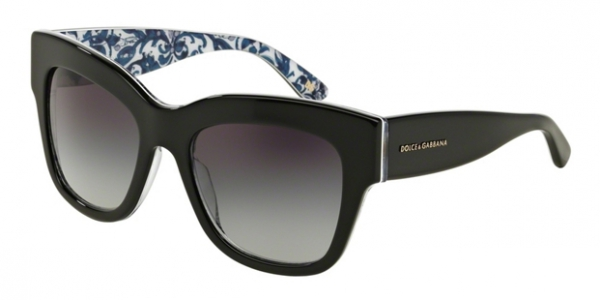 DOLCE & GABBANA DG4231 ALMOND FLOWERS COLLECTION BLACK/MAIOLICHE PORTOGHESI