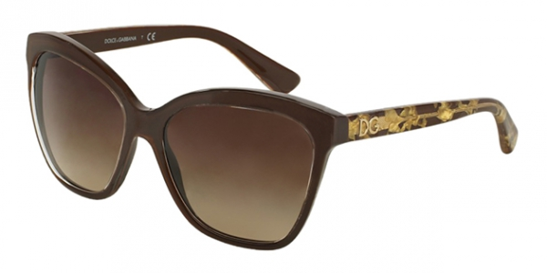 DOLCE & GABBANA DG4251 CRYSTAL ON BROWN