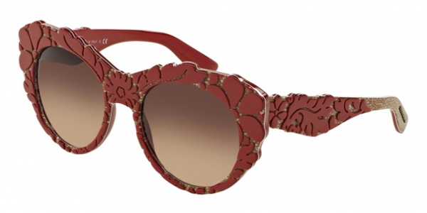 DOLCE & GABBANA DG4267 MAMA'S BROCADE COLLECTION TOP RED/TEXTURE TISSUE