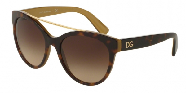 DOLCE & GABBANA DG4280 TOP HAVANA ON GOLD