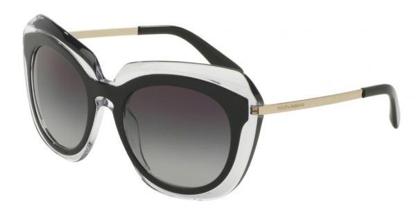 DOLCE & GABBANA DG4282 TOP BLACK ON TRANSPARENT