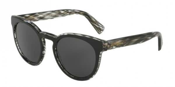 DOLCE & GABBANA DG4285 TOP BLACK ON STRIPED