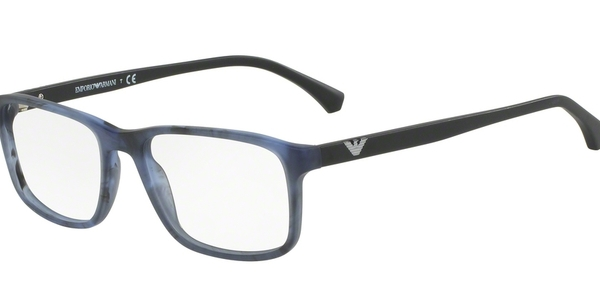 EMPORIO ARMANI EA3098 MATTE STRIPED BLUE