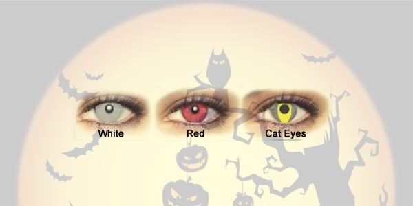 HALLOWEEN LENS TRIMESTRALES RED EYES 2PK