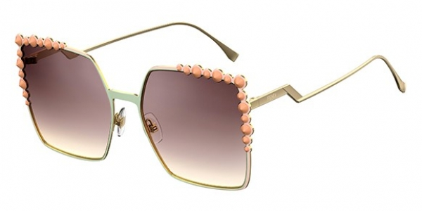 FENDI FF 0259/S CAN EYE PINK (BROWN SM SLV)