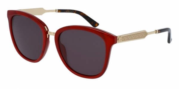 GUCCI GG0073S RED / GOLD / GREY