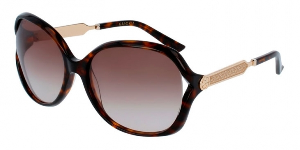 GUCCI GG0076S HAVANA / BROWN GRADIENT