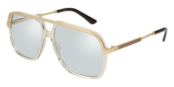 GUCCI GG0200S SHINY TRANSPARENT YELLOW/ENDURA GOLD