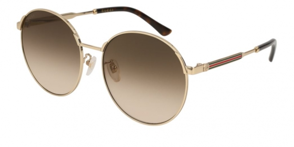 GUCCI GG0206SK GOLD-GOLD-BROWN