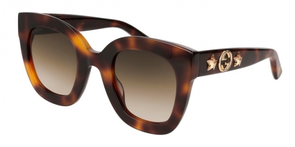 GUCCI GG0208S HAVANA / BROWN GRADIENT