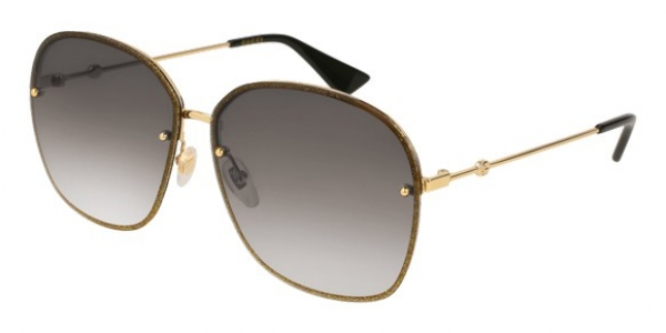 GUCCI GG0228S GOLD / GREY