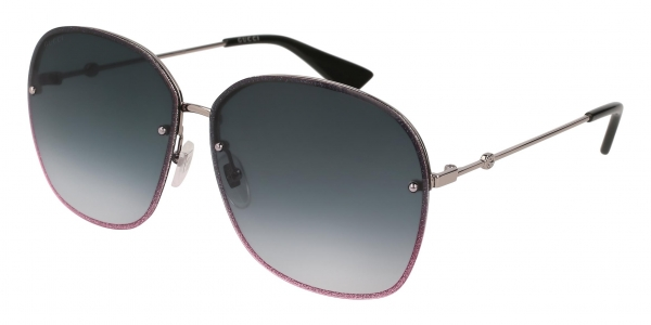 GUCCI GG0228S RUTHENIUM / GREY