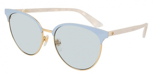 GUCCI GG0245S SHINY ENDURA GOLD/SHINY BABY BLUE