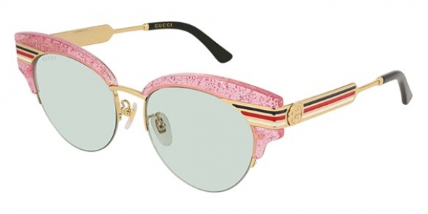 9bed0cfe4f GUCCI GG0283S SHINY GLITTER PINK ENDURA GOLD