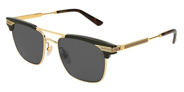 GUCCI GG0287S SHINY BLACK/ENDURA GOLD