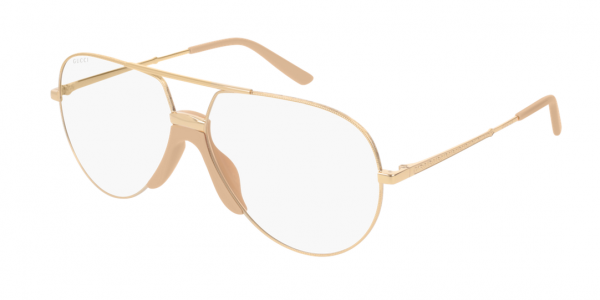 GUCCI GG0432S SHINY ENDURA GOLD/SHINY SOLID NUDE