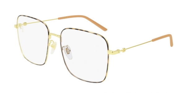 GUCCI GG0445O GOLD-GOLD-TRANSPARENT