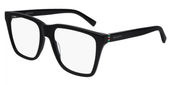 GUCCI GG0452O BLACK-RUTHENIUM-TRANSPARENT