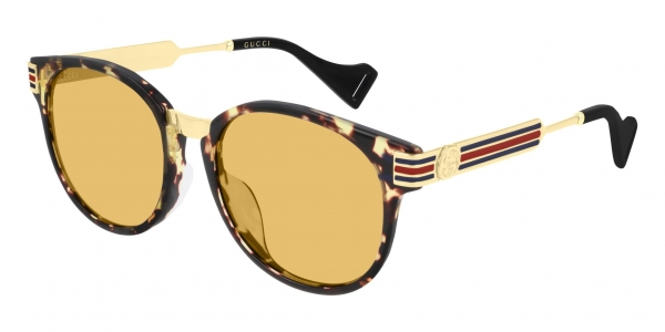 GUCCI GG0586SA HAVANA-GOLD-YELLOW