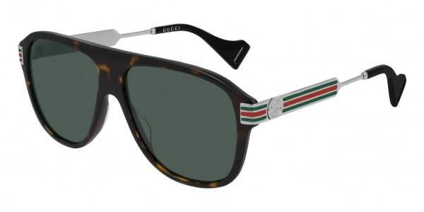 GUCCI GG0587S HAVANA-RUTHENIUM-GREEN