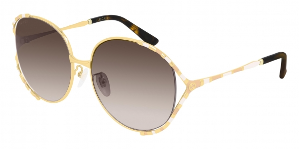 GUCCI GG0595S GOLD-GOLD-BROWN