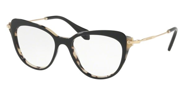MIU MIU MU 01QV WHITE HAVANA/TOP BLACK