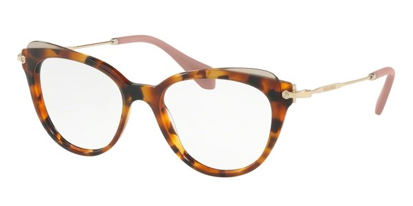MIU MIU MU 01QV HAVANA/TRANSPARENT BROWN