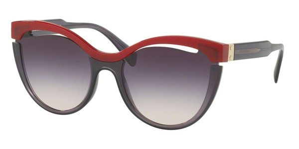 MIU MIU MU 01TS BORDEAUX/TRANSPARENT LILAC