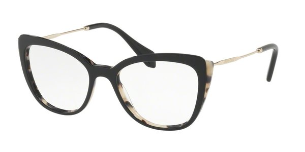 MIU MIU MU 02QV WHITE HAVANA/TOP BLACK