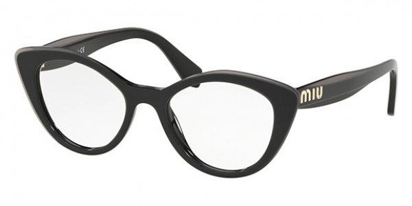 MIU MIU MU 01RV BLACK TOP GREY