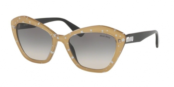 MIU MIU MU 05US BLACK TOP GOLD/WHITE STARS