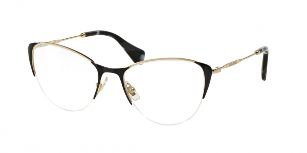 MIU MIU MU 50OV PALE GOLD/BLACK
