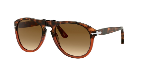 PERSOL PO0649 BROWN TORTOISE/TRASP BORDEAUX
