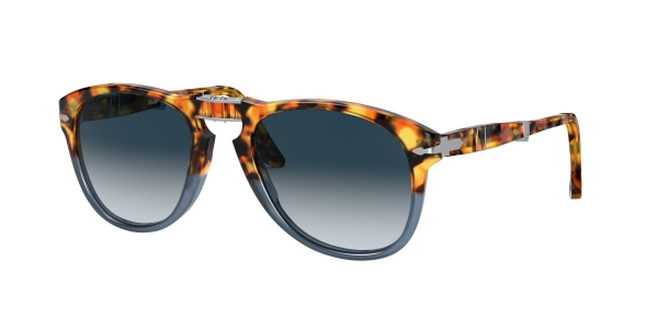PERSOL PO0714 BROWN TORTOISE/OPAL BLUE