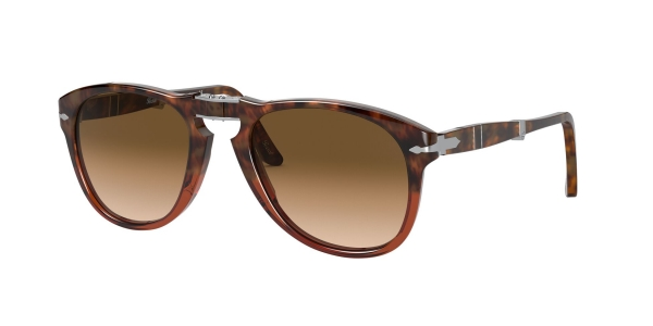 PERSOL PO0714 BROWN TORTOISE/TRANSP BORDEAUX