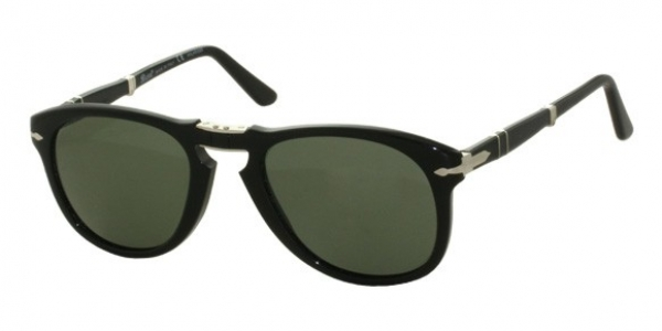 PERSOL PO0714 BLACK/GREY GREEN POLARIZED (95/58 E)