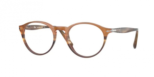 PERSOL PO3092V BLACK/STRIPED BROWN