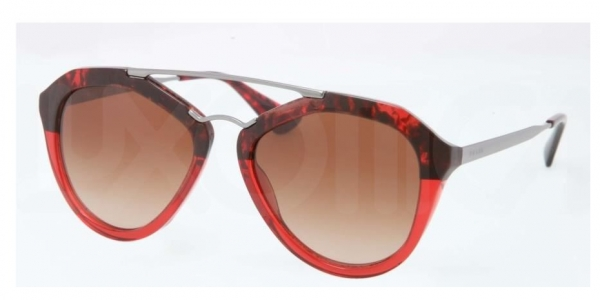 5c4632289c8f PRADA Cinema PR 12QS-RO01Z1 HAVANA BROWN GRADIENT RED OPAL
