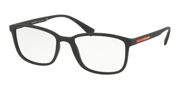 PRADA LINEA ROSSA PS 04IV BLACK RUBBER