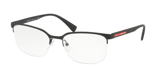 PRADA LINEA ROSSA PS 51IV BLACK RUBBER