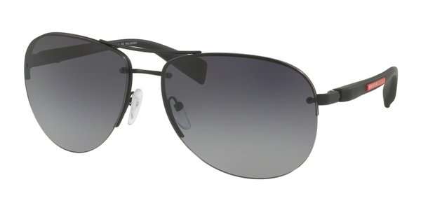 PRADA LINEA ROSSA PS 56MS BLACK RUBBER