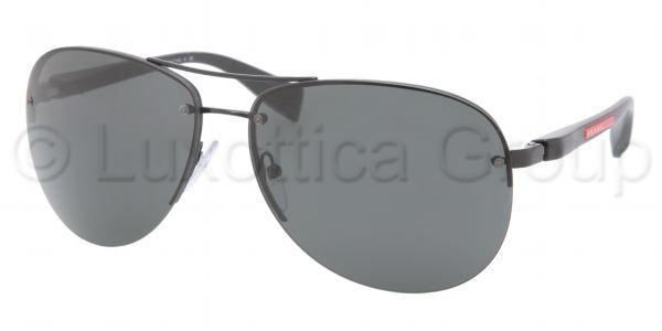 PRADA LINEA ROSSA PS 56MS BLACK DEMI SHINY GRAY