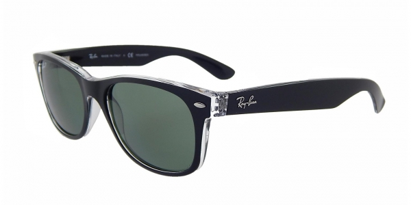 f90338c81f5f79 RAY-BAN RB2132 NEW WAYFARER TOP BLACK ON TRASPARENT